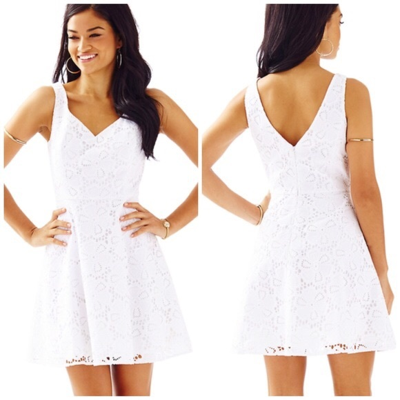6224370eddc9a3 Lilly Pulitzer Dresses & Skirts - Lilly Pulitzer Marla Dress in White  Floral Lace